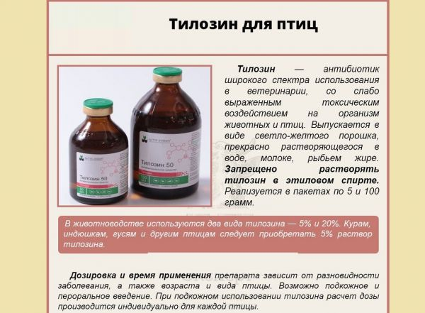 Препарат Тилозин